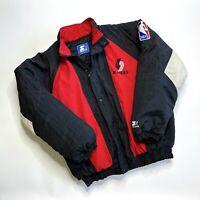 Vtg 90s Starter Portland Trail Blazers Puffer Jacket, NBA, Back Logo, Quilted XL