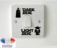 "STAR WARS ""Dark side Light side"" sticker interrupteur décoration chambre enfant"