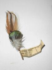 Old Hutfeder Vintage Nadler Sebnitz Handarbeit 1950er Deko Feder hat feather (14