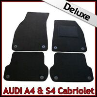 Audi A4 Convertible Cabrio B7 2006-2009 Tailored LUXURY 1300g Carpet Mats BLACK