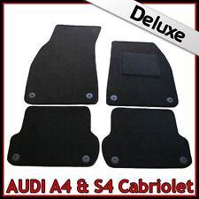 AUDI A4 Convertible Cabrio B6 2002-2006 A Medida De Lujo 1300g Negro esteras de alfombra