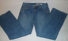 WOMENS DKNY TIMES SQUARE FLARE JEANS SZ 27 INSEAM 28.5""