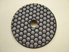"Dry Diamond polishing pad 100mm (4"") 3000 grit medium fine.Granite,glass,marble"