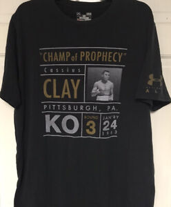 "Under Armour Muhammad Ali Cassius Clay ""Champ Of Prophecy"" T-shirt, Mens L"