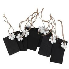10 Wood Mini Chalkboard Hanging Tag Wedding Gifts Party Favors White Flowers