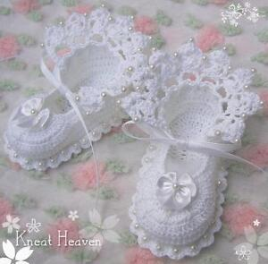 Crochet Antique Lace Baby/Reborn Doll Booties