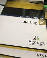 Becker CPA Exam Review Auditing 2013 Edition