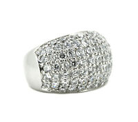 kräftiger Ring - 925er Silber - weiße Zirkonia