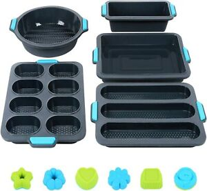 Silicone Bakeware Set, 40Pcs Silicone Baking Pans Mold Tray, Including Nonstick