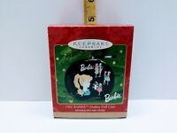 Hallmark Ornament 1962 Barbie Hatbox  Keepsake Ornament 2000