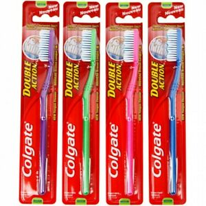 12 Stk. Zahnbürste COLGATE Double Action medium 18cm