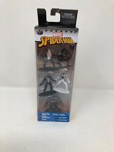 Marvel Die Cast Spider-man 5 Figures Stealth Venom Spider-man Agent Venom
