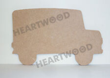 School Bus Shape MDF (100mm X 6mm Thick)wooden Craft Shape/blank Decoration