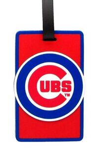 Chicago Cubs Travel Bag Tag Luggage ID Tag Team Colors MLB