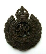 WW2 Royal Engineers Plastic Economy Cap Badge - A Stanley & Sons - Slight warp