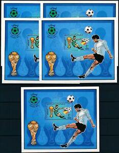 [PG10132] Libya 1982 Football good sheets (5) very fine MNH