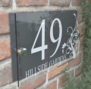 Decorative House Door Plaque Numbers Wall Sign Name Plate  Acrylic  Dec2WA