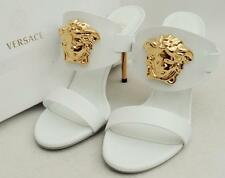 Versace Medusa Heels Sandals UK4 EU37 Authentic PALAZZO SLIDE New