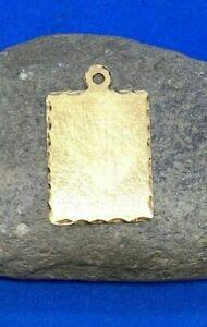14K Yellow Gold Blank Slate Dog Tag Charm
