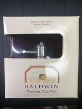 Baldwin Premium Satin Nickel Bathroom Closet Towel Robe Hook Hanger Wall Mount