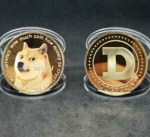 Gold Dogecoin Coins Commemorative 2021 New Collectors Gold Plated Doge Coin