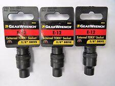 """Gearwrench 80461 E-12 External Torx Socket 3/8"""" Drive 3pcs"""