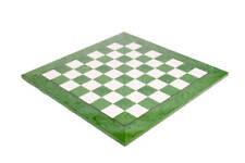 "Green Erable Standard Traditional Chess Board - 2.375"" - GLOSS FINISH"
