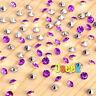 1000 Purple&Silver Diamond Confetti Wedding Table Scatter Crystals Decorations