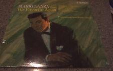 "Mario Lanza ""His Favorite Arias"" RCA RED SEAL SEALED NM LP"