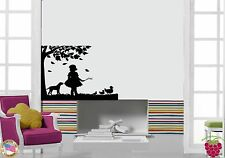 Wall Stickers Vinyl Decal Girl Country Tree Ducks Dog Cool Decor (z1581)