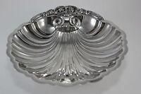 Vint Ornate Silver Plate Snail Footed Shell Shaped Bon Bon Candy Nut Dish Bowl