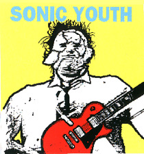 7974 Sonic Youth Guy with Guitar Art Alternative Rock Alt 90s Sticker / Decal