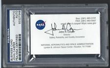 John Casper signed Nasa business card Psa/Dna slabbed Astronaut