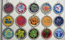15 Beyblade Silver Flat Bottle Cap Necklaces Set 4
