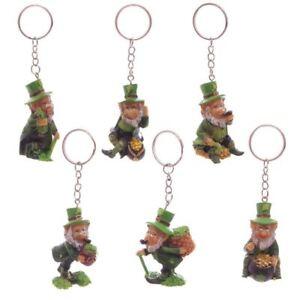Leprechaun Keyring Chain Novelty Lucky Gift St Patrick's