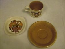 Vintage Palissy Cup Saucer & Dish The Royal Worcester Group Casual Tableware
