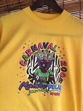 2005 Aruba Carnival Shirt Men's Xl Yellow T-shirt
