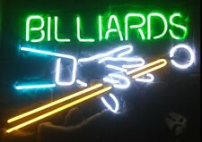 "New Billiards Game Room Neon Light Sign 20""x16"""