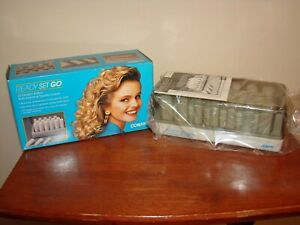 Vintage 1990 Conair READY SET GO 20 Heated Hot Rollers Hair Curlers Set HS5N