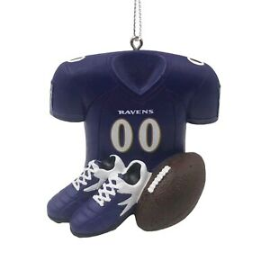 Baltimore Ravens Christmas Tree Holiday Ornament - Jersey Ball Cleats Equipment