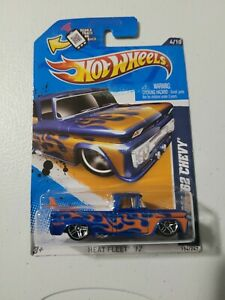 🔥 HOT WHEELS CUSTOM '62 CHEVY HEAT FLEEET '12 IN BLUE NICE 🔥