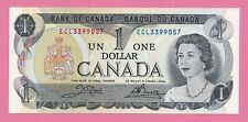 1973 $1 Bank of Canada Note Crow Bouey UNC