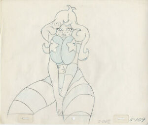 COONSKIN (STREETFIGHT): ORIGINAL ANIMATION PRODUCTION DRAWINGS (Free Autograph)