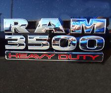 "1x OEM ""RAM 3500 HEAVY DUTY "" Dodge Emblem Badge 3D logo Mopar New Chrome F1"