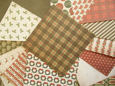 "Simply Creative Christmas Cheer 15 sheets 6x6""  Scrapbook backing Papers"