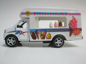 """Kinsmart Softy Ice Cream Truck diecast model with pull back action 5"""" fun toy"""