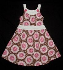 NWT $58 Tralala MARGUERITE PINK 2 3 2T 3T Longer Dress Knit Girl Brown Sundress