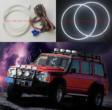 "2x white 7000K LED Angel Eyes Halo Rings For Nissan Patrol GQ MQ Y60 7"" Headlamp"