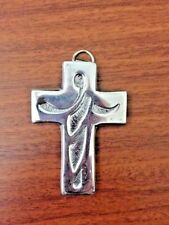NWOT Mini Cross Pewter / Christmas Tree Ornament / Wall Hanging / Favor Gift