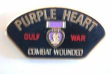 US USA Purple Heart Combat Wounded Gulf War Military Hat Lapel Pin